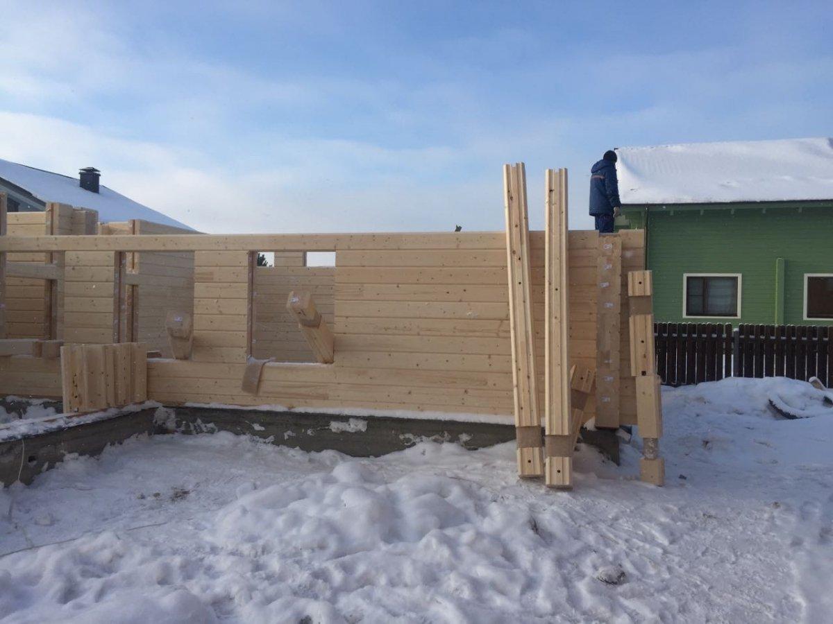 Строительство бани из бруса своими руками: пошаговая 42