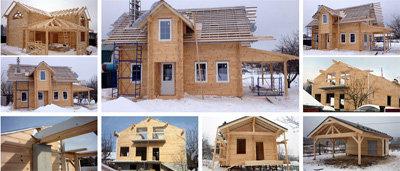фото строительство дома зимой